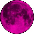 Neon Pink Moon by amdevine