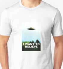 I Want To Believe Poster T-Shirt