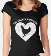 THE CHICKEN WHISPERER t-shirts Women's Fitted Scoop T-Shirt
