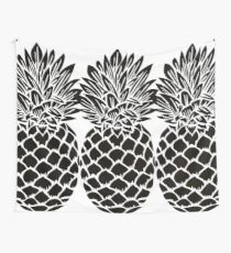Pineapple Trio | Black and White Wall Tapestry