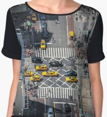 New York City Taxis From Above Women's Chiffon Top