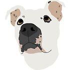 Pit Bull Head Logo by Savannah Terrell