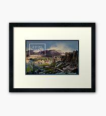 Travel Turkey Bone Mountain Digital Photography Framed Print