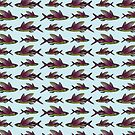 Flying Fish Pattern   Vintage Fish   Nautical Patterns    by EclecticAtHeART