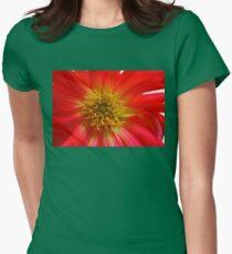 Scarlet Cactus Dahlia Supermacro T-Shirt