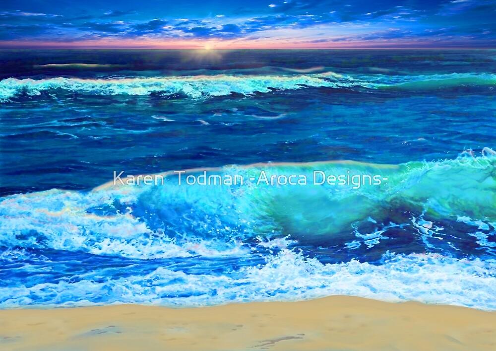 Sunset surf by Karen  Todman -Aroca Designs-