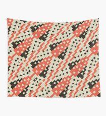 Chocktaw Geometric Square Cutout Pattern - Iron Oxide Wall Tapestry