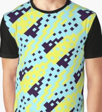 Chocktaw Geometric Square Cutout Pattern - Electric Ray Graphic T-Shirt
