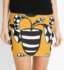 Bumble Plater Pattern  Mini Skirt