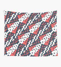 Chocktaw Geometric Square Cutout Pattern - Candy Cane USA Wall Tapestry