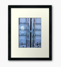 Shipping Container Doors Framed Print