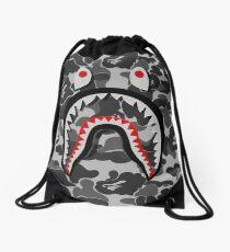 white shark Drawstring Bag