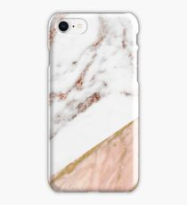 Rose gold marble blended iPhone Case/Skin