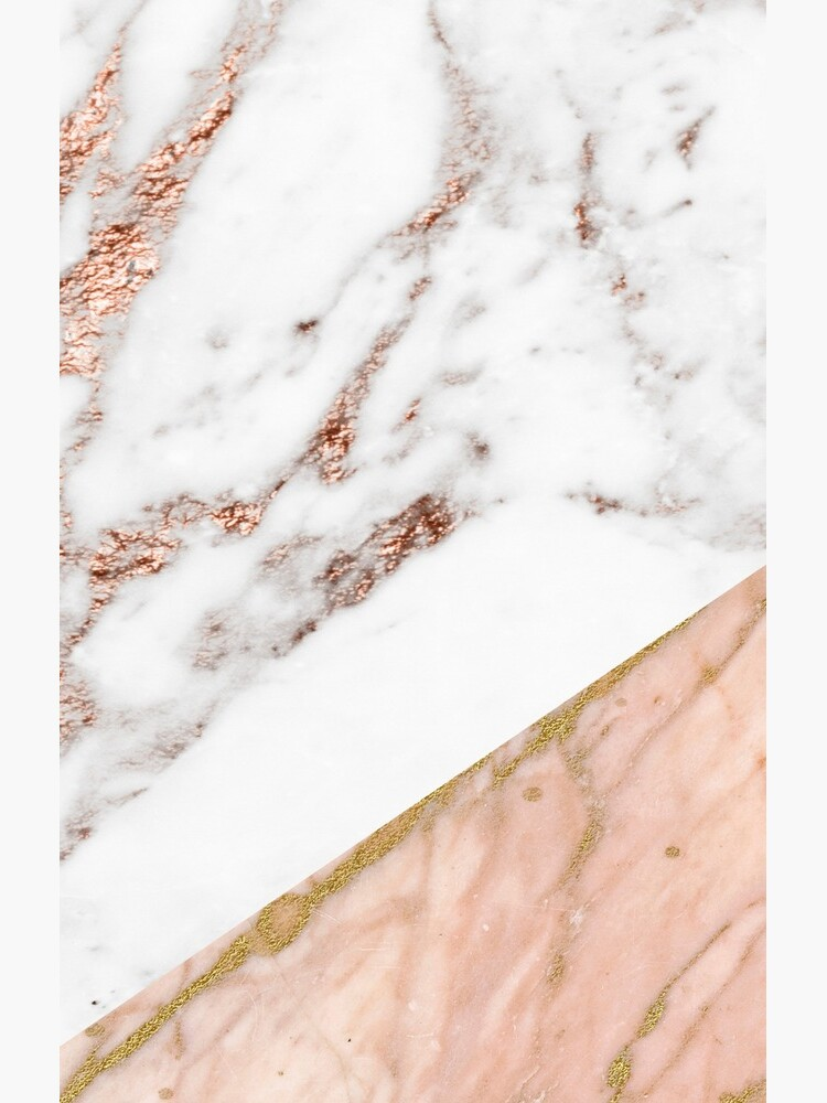 Rose gold marble blended by peggieprints