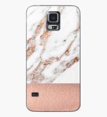 Roségold Marmor und Folie Hülle & Klebefolie für Samsung Galaxy