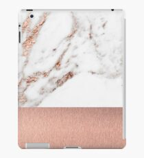 Rose gold marble and foil iPad Case/Skin