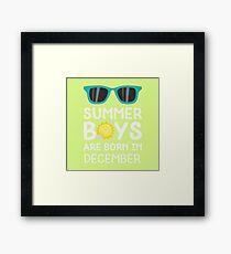Summer Boys in DECEMBER Rmvif Framed Print