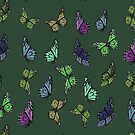 Multi Colored Butterfly Pattern 2 by taiche