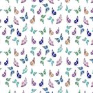 Pastel Colored Butterfly Pattern Vector 2 by taiche
