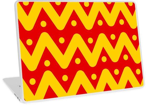 Yellow Zig-Zag Pattern (Red) by Bundleofsocks