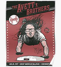 The Avett Brothers - August 26, 2017 Great American Ballpark. Cincinnati, OH Poster
