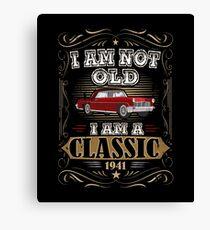 76th Birthday I'm Not Old I'm A Classic Funny Retro Canvas Print
