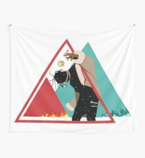 La Flame Of Travis Wall Tapestry