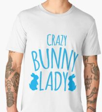 CRAZY Bunny lady Men's Premium T-Shirt