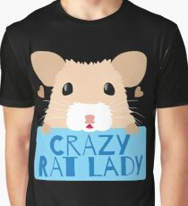 CUTE crazy rat lady (in cream colour) Graphic T-Shirt