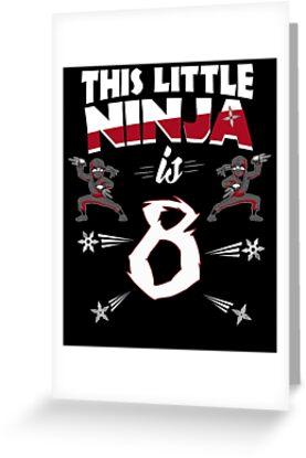 8th Birthday Boys Funny 8 Year Old Ninja Martial Arts