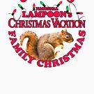 National Lampoon's - Weihnachtsferien-heller roter Text von Candywrap Design