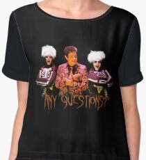 David S. Pumpkins - Any Questions? V Women's Chiffon Top