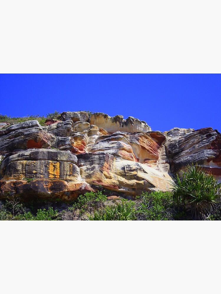 Cliffs at Evans Head, NSW by theoddshot