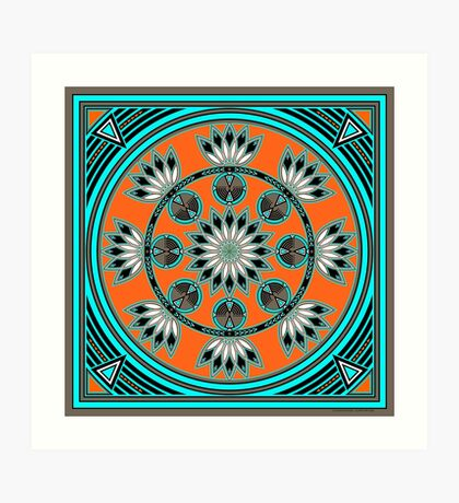 Thunder Beings Orange Art Print