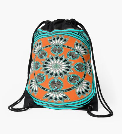 Thunder Beings Orange Drawstring Bag