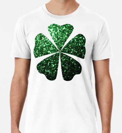 Beautiful Glamour Dark Green glitter sparkles Men's Premium T-Shirt