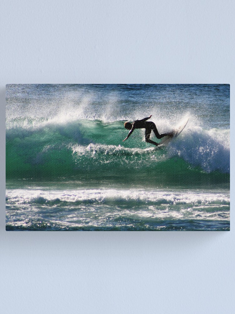 Alternate view of Emerald Surfer Canvas Print