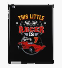 Funny 7th Birthday Race Car 7 Yr Old Boy Girl Racer iPad Case/Skin
