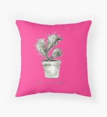 This is not a Pillow blackandwhite Throw Pillow