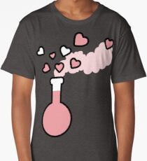 Pink Love Magic Potion in a Laboratory Flask Long T-Shirt