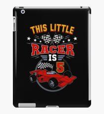 Funny 5th Birthday Race Car T-Shirt 5 Yr Old Boy Girl Racer iPad Case/Skin