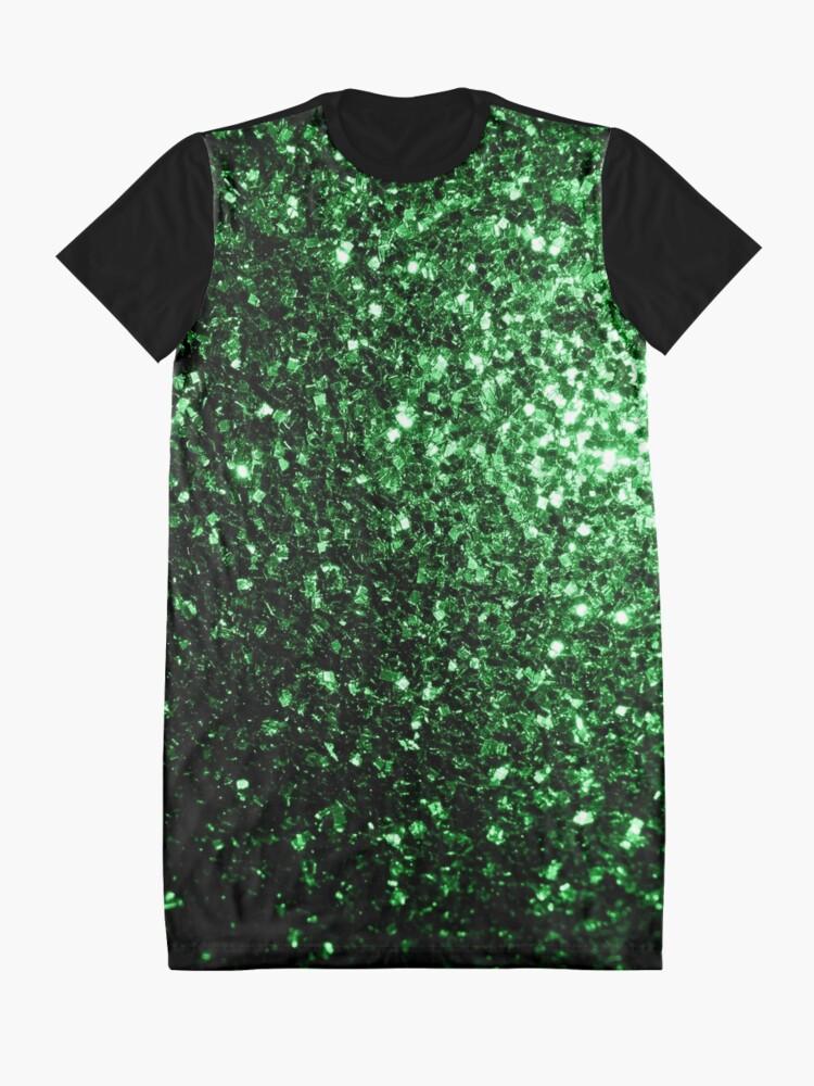 ca7bfe9ca0 Alternate view of Beautiful Glamour Dark Green glitter sparkles Graphic T-Shirt  Dress