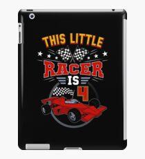 Funny 4th Birthday Race Car 4 Yr Old Boy Girl Racer iPad Case/Skin