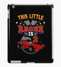 Funny 3rd Birthday Race Car 3 Yr Old Boy Girl Racer iPad Case/Skin