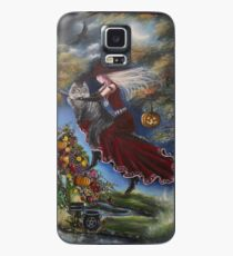 Halloween autumn fall cat night, moon witch Case/Skin for Samsung Galaxy