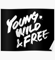 B.A.P - Young, Wild & Free Logo Poster