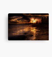 Esplanade sunset Canvas Print