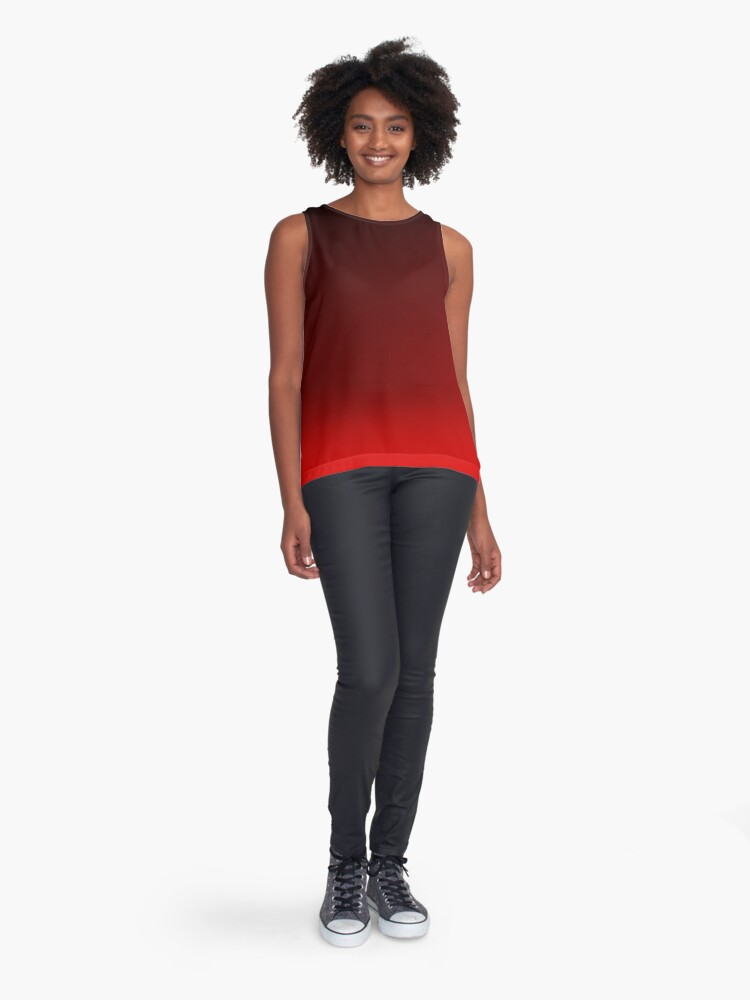Alternate view of Red Ombre Sleeveless Top