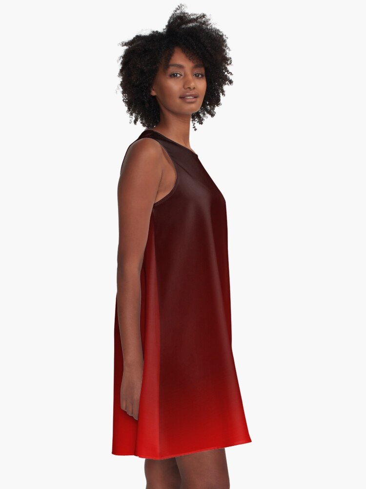 Alternate view of Red Ombre A-Line Dress