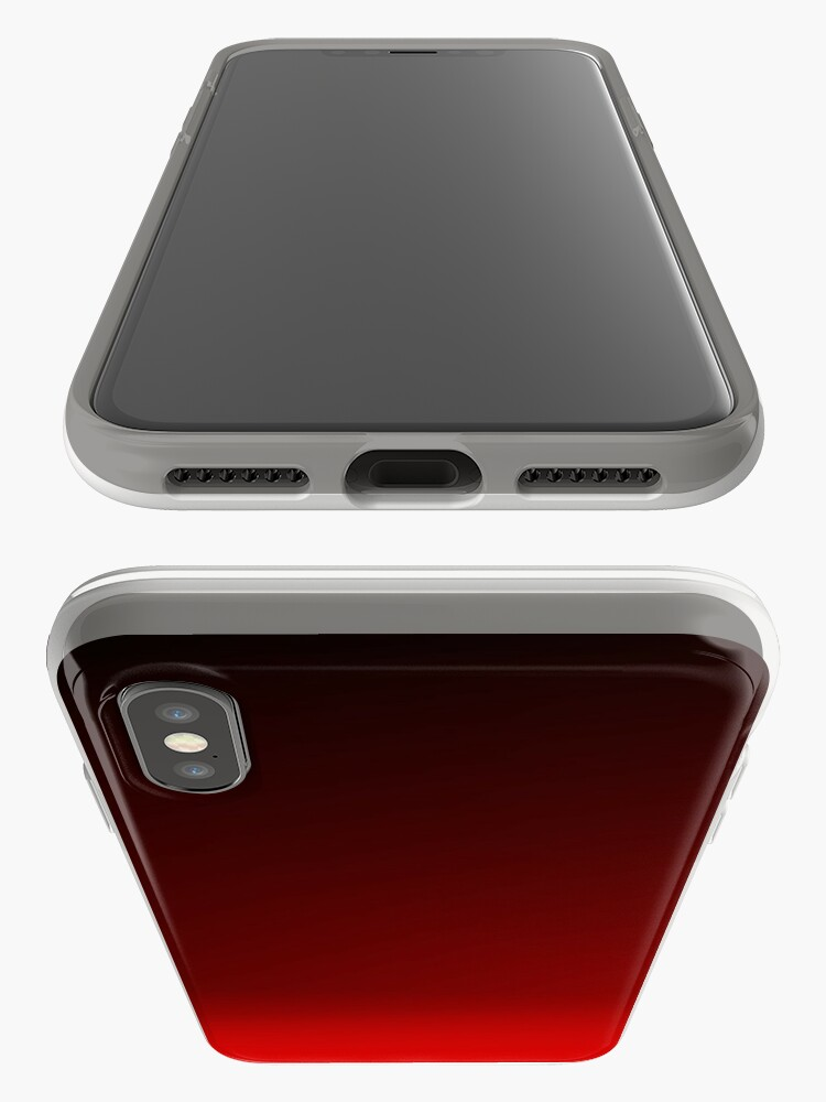 Alternate view of Red Ombre iPhone Case & Cover
